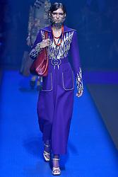 Model Anka Kuryndina walks on the runway during the Gucci Fashion Show during Milan Fashion Week Spring Summer 2018 held in Milan, Italy on September 20, 2017. (Photo by Jonas Gustavsson/Sipa USA)