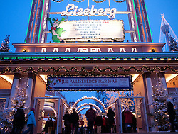 Entrance to Christmas Market at Liseberg amusement park in Gothenburg Sweden