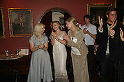 CLAIRE VAN KAMPEN, JULIET RYLANCE AND VANESSA REDGRAVE Vanessa Redgrave and Thelma Holt host a reception at the<br />