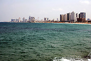 Israel,Tel Aviv beach front as seen from south, from Jaffa