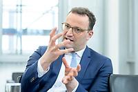 05 MAY 2021, BERLIN/GERMANY:<br /> Jens Spahn, CDU, Bundesgesundheitsminister, wahrend einem Interview, in seinem Buero, Bundesministerium fur Gesundheit<br /> IMAGE: 202105005-01-033