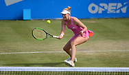 Alison Riske (USA) in Action during her match against Magdalena Rybarikova (SVK). The Aegon Open Nottingham 2017, international tennis tournament at the Nottingham tennis centre in Nottingham, Notts , day 4 on Thursday 15th June 2017.<br /> pic by Bradley Collyer, Andrew Orchard sports photography.