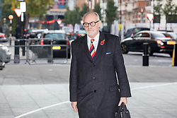 © Licensed to London News Pictures. 13/11/2016. London, UK. Crispin Blunt MP arriving at the Andrew Marr Show today. The show has been heavily criticised for screening a pre-recorded interview with far-right politician Marine Le Pen, who associates with Le Front National (The National Front). Photo credit : Tom Nicholson/LNP