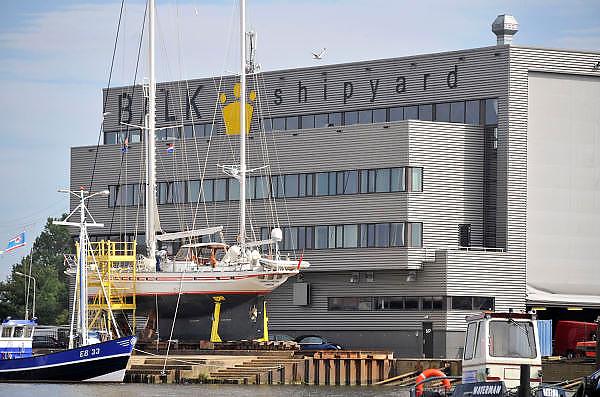 Nederland, Urk, 25-8-2011Zicht op de haven van dit voormalig eiland. Balk shipyard. Passantenhaven, plezierboten, recreatiehaven,watersport,jachthaven.Foto: Flip Franssen/Hollandse Hoogte
