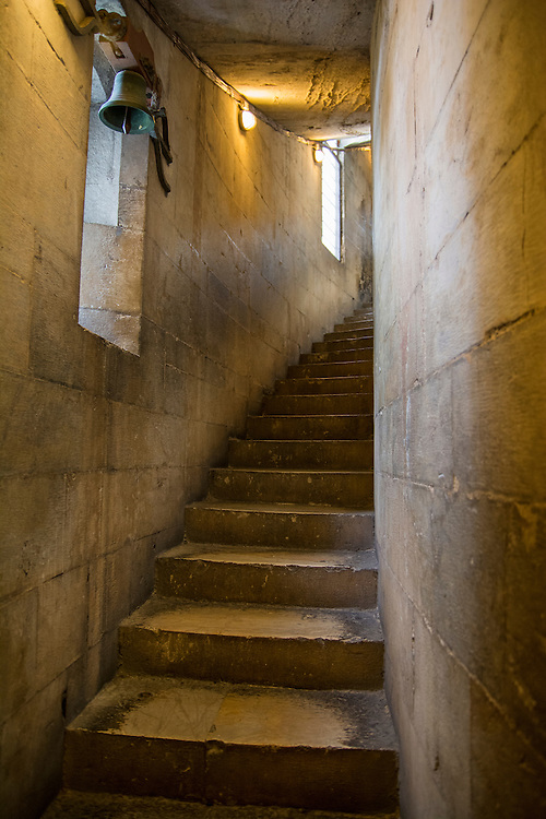 The steps inside the leaning tower of Pisa.