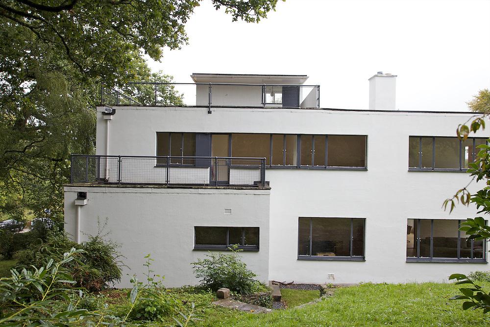 Rear view exterior of Warren House, Wayne McGregor's Dartington Estate home in Devon<br /> Vanessa Berberian for The Wall Street Journal