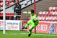 Liam Roberts of Walsall allows a penalty during the EFL Cup match between Walsall and Sheffield Wednesday at the Banks's Stadium, Walsall, England on 5 September 2020.
