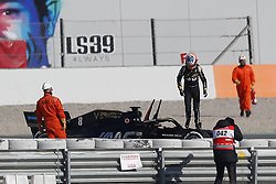 February 18, 2019 - Barcelona, Catalonia, Spain - February 18, 2019 - Circuit de Barcelona-Catalunya, Montmelo, Spain - Formula One preseason 2019; Romain Grosjean of Haas F1 Team leaves the car after a mechanic failure. (Credit Image: © Eric Alonso/ZUMA Wire)