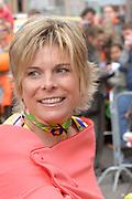 Her Majesty the queen and members of the royal family celebrate Saturday 29 April 2006 Queensday in the province flevoland in the cities  Zeewolde and almere.<br /> <br /> Hare Majesteit de Koningin en leden van de Koninklijke Familie vieren zaterdag 29 april 2006 Koninginnedag mee in de provincie Flevoland en wel in Zeewolde en Almere.<br /> <br /> On the Photo / Op dce foto: Princess Laurentien in the streets of Almere / Prinses Laurentien in de straten van Almere