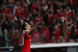 November 26, 2017 - Lisbon, Portugal - Benfica's forward Jonas  (C) celebrates his goal  during Primeira Liga 2017/18 match between SL Benfica vs Vitoria FC, in Lisbon, on November 26, 2017. (Credit Image: © Carlos Palma/NurPhoto via ZUMA Press)