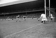04/09/1966<br /> 09/04/1966<br /> 4 September 1966<br /> All-Ireland Senior Hurling Final: Kilkenny v Cork at Croke Park, Dublin.<br /> Cork's F. Norlery (right) scores a goal.