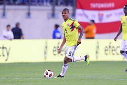 September 11, 2018 - East Rutherford, NJ, U.S. - EAST RUTHERFORD, NJ - SEPTEMBER 11:  Colombia midfielder Wilmar Barrios (5) during the first half of the International Friendly Soccer game between Argentina and Colombia on September 11, 2018 at MetLife Stadium in East Rutherford, NJ.   (Photo by Rich Graessle/Icon Sportswire) (Credit Image: © Rich Graessle/Icon SMI via ZUMA Press)