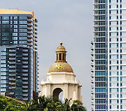 Bayside Condos and Sapphire Tower by The Santa Fe Depot in Downtown San Diego California