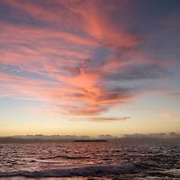 Sunset on islet of Namotu off the coast of Viti Levu, Fiji Islands