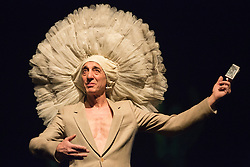 © Licensed to London News Pictures. 22/04/2015. London, England. Pictured: Jean Laurent Sasportes. Tanztheater Wuppertal Pina Bausch perform the UK Premiere of Ahnen at Sadler's Wells Theatre. Performances from 23 to 26 April 2015. Photo credit: Bettina Strenske/LNP - STRICTLY EDITORIAL USE ONLY