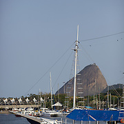 A schooner on the water at Gloria Marina, Rio de Janeiro,  Brazil. 20th September 2010. Photo Tim Clayton.