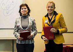 Andreja Zulic, Karmen Vidmar, Poslovna skupina BNI Mostovi, srecanje dne 12. decembra 2018. Foto: Vid Ponikvar / Sportida