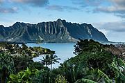 Kaneohe Bay, island of Oahu, Hawaii, USA.