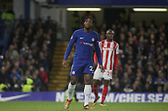 Mitchy Batshuayi of Chelsea looks on. <br /> Premier league match, Chelsea v Stoke city at Stamford Bridge in London on Saturday 30th December 2017.<br /> pic by Kieran Clarke, Andrew Orchard sports photography.