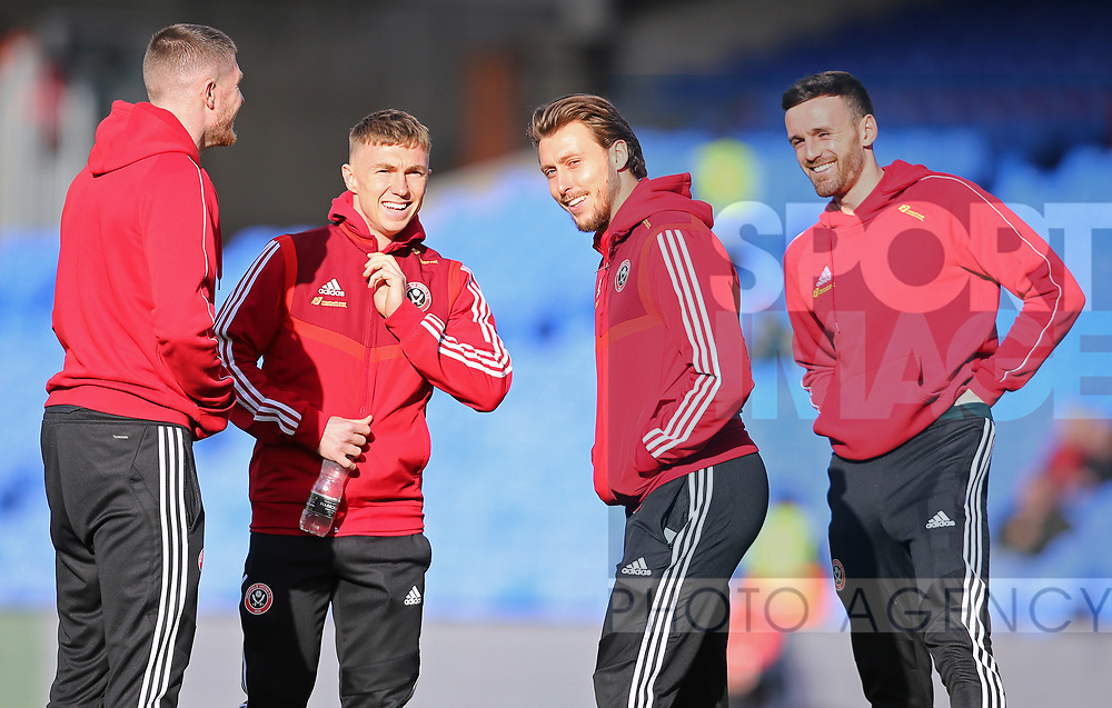 Sheffield United's Ben Osborn, Luke Freeman and Jack Robinson during the Premier League match at Selhurst Park, London. Picture date: 1st February 2020. Picture credit should read: Paul Terry/Sportimage