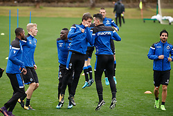 January 8, 2018 - San Roque, SPAIN - Club's Jelle Vossen and Club's Erhan Masovic pictured during day five of the winter training camp of Belgian first division soccer team Club Brugge, in San Roque, Spain, Monday 08 January 2018. BELGA PHOTO BRUNO FAHY (Credit Image: © Bruno Fahy/Belga via ZUMA Press)