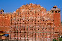 Inde. Rajasthan. Jaïpur. Palais des vents. Awa Mahal. // India. Rajasthan. Jaipur. Awa Mahal, the wind palace.