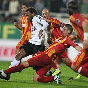 Besiktas's Manuel FERNANDES (L) during their Turkish superleague soccer match Besiktas between Kayserispor at BJK Inonu Stadium in Istanbul Turkey on Saturday, 15 October 2011. Photo by TURKPIX