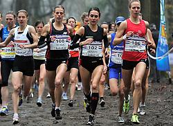 27-11-2011 ATLETIEK: NK CROSS 53e WARANDELOOP: TILBURG<br /> (L-R) Susanne Hahn GER, Marije te Raa, Adrienne Herzog, Helen Hofstede Start Cross 8100 meter<br /> ©2011-FotoHoogendoorn.nl