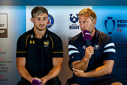 Jordan Crane of Bristol Bears and Josh Bassett of Wasps at the launch of the 2018/19 Gallagher Premiership Rugby Season Fixtures - Mandatory by-line: Robbie Stephenson/JMP - 06/07/2018 - RUGBY - BT Tower - London, England - Gallagher Premiership Rugby Fixture Launch