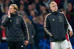 08-05-2019 NED: Semi Final Champions League AFC Ajax - Tottenham Hotspur, Amsterdam<br /> After a dramatic ending, Ajax has not been able to reach the final of the Champions League. In the final second Tottenham Hotspur scored 3-2 / Kasper Dolberg #25 of Ajax, Donny van de Beek #6 of Ajax