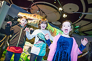 NO FEE PICTURES<br /> 17/12/17 Cain McLaughlin, 10, Arwen, 6  and Elliot McMahon, age 8 Claire Hall pictured at the prehistoric preview and official opening of Dinosaurs Around The World now open at the the Ambassador Theatre  for a limited time only. Embark on a globetrotting expedition around the world to discover the Age of Reptiles! With advanced animatronics, a multi-layered narrative, fossils, authentic casts, cutting-edge research and immersive design elements you'll experience the Age of Reptiles as it comes to life!  Dinosaurs Around the World is open daily to the public from 10 a.m. with last entry at 6pm for a limited time only. Tickets available from Ticketmaster.ie and from the Ambassador Theatre Box Office now. Visit www.mcd.ie for more. Pictures: Arthur Carron