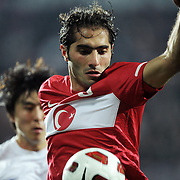 Turkey's Hamit ALTINTOP during their International friendly soccer match Turkey between South Korean at the Avni Aker stadium in Trabzon, Turkey on Wednesday 09 February 2011. Photo by TURKPIX