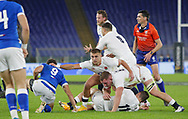 Ruck England during the Guinness Six Nations 2020, rugby union match between Italy and England on October 31, 2020 at the Stadio Olimpico in Rome, Italy - Photo Luigi Mariani / LM / ProSportsImages / DPPI