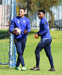 Cape Town-180823- Cape Town City player Sage Stephens and Samora Motlou at training preparing for their up comingMTN 8 semi-final against Sundowns at Cape Town Stadum.Photographer :Phando Jikelo/African News Agency/ANA