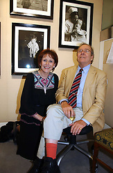 The EARL OF SNOWDON and MARJORIE WALLACE at an exhibition of photographs by Lord Snowdon held at the Chris Beetles Gallery, Ryder Street, London on 18th September 2006.<br /><br />NON EXCLUSIVE - WORLD RIGHTS