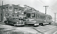 1948 Accident between a streetcar and a car