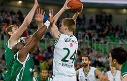 Davis Bertans of Union Olimpija during basketball match between KK Union Olimpija and Unics Kazan (RUS) of 10th Round in Group D of Regular season of Euroleague 2011/2012 on December 21, 2011, in Arena Stozice, Ljubljana, Slovenia. Unics Kazan defeated Union Olimpija 76-63. (Photo by Vid Ponikvar / Sportida)