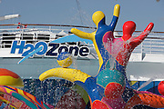 Royal Caribbean International's  Independence of the Seas, the world's largest cruise ship...H2O zone