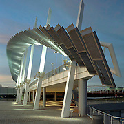 The St. George Ferry Terminal is the arrival point for the Staten Island Ferry on Staten Island.