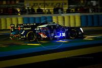 Qualifying Gustavo Menezes (USA) / Nicolas Lapierre (FRA) / Stephane Richelmi (MCO) driving the LMP2 Signatech Alpine A460 - Nissan 24hr Le Mans 15th June 2016