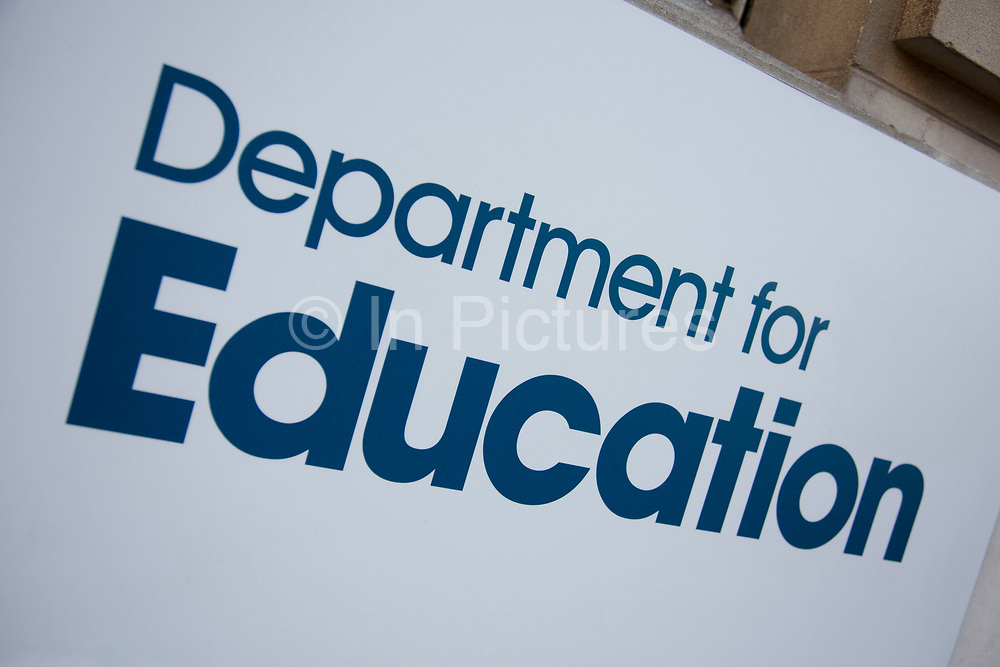 Department for Education in London, England, United Kingdom. The Department for Education is responsible for education, children's services, higher and further education policy, apprenticeships and wider skills in England, and equalities.
