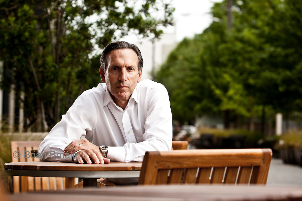 Portrait of Howard Schultz, CEO of Starbucks Coffee.Photograhed at Starbucks offices in Seattle, WA for BusinessWeek Magazine.