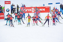 Start during the Mass Start Women 12,5 km at day 4 of IBU Biathlon World Cup 2019/20 Pokljuka, on January 23, 2020 in Rudno polje, Pokljuka, Pokljuka, Slovenia. Photo by Peter Podobnik / Sportida