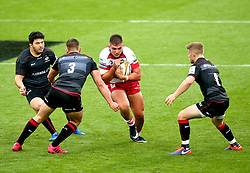 Jake Polledri of Gloucester Rugby runs into tackles - Mandatory by-line: Robbie Stephenson/JMP - 29/07/2017 - RUGBY - Franklin's Gardens - Northampton, England - Saracens v Gloucester Rugby - Singha Premiership Rugby 7s