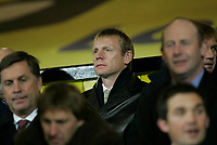 Photo: Marc Atkins.<br /> Watford v Newcastle United. Carling Cup. 07/11/2006.<br /> Manchester City Manager Stuart Pearce watches the match.