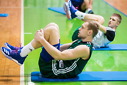 Jaka Blazic during Practice session of Slovenian National basketball team before FIBA Basketball World Cup China 2019 Qualifications against Belarus, on November 20, 2017 in Arena Stozice, Ljubljana, Slovenia. Photo by Vid Ponikvar / Sportida