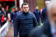 Luton Town Manager Nathan Jones  during the EFL Sky Bet League 1 match between Barnsley and Luton Town at Oakwell, Barnsley, England on 13 October 2018.