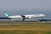 Iranian Mahan Air Airbus A340-600 (EP-MME) at Malpensa (MXP / LIMC), Milan, Italy