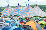 Tents,tents, tents. The 2013 Glastonbury Festival, Worthy Farm, Glastonbury. 30 June 2013. © Guy Bell, guy@gbphotos.com, all rights reserved