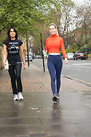 Leila Russack and Jackie St Claire out and about in London photo by terry scott